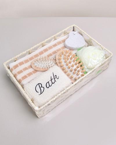 Hasır Sepette Banyo Seti
