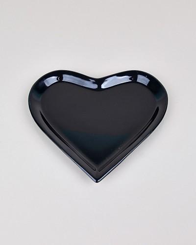 Siyah Kalpli Pasta Tabak