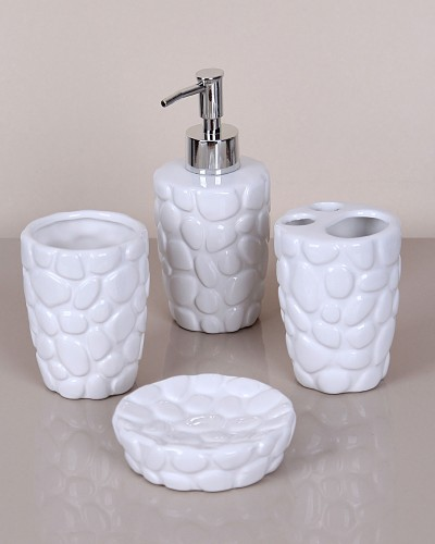 Beyaz 4 Parça Banyo Seti