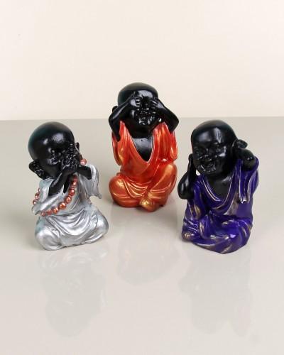 Polyester Renklı 3 Lü Buda