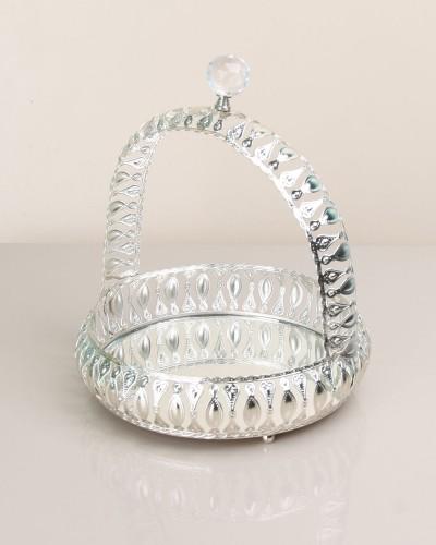 Büyük Boy Taşlı Gümüş Drajelik